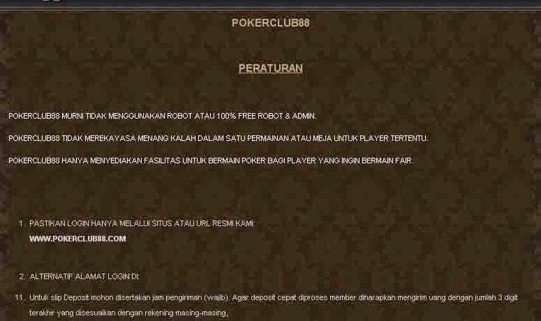 Tips Mendaftar di Situs Pokerclub88